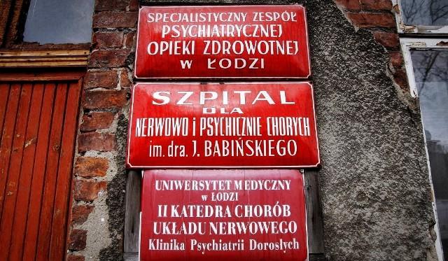 Szpital im. Babińskiego jest jednym z dwóch w Łodzi, które od października zajmą się koordynacją centrum zdrowia psychicznego