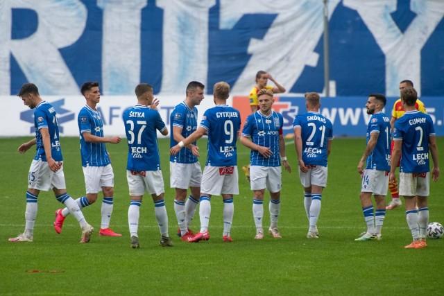 """Piłkarze Lecha Poznań w przyszłym sezonie mogą już nie występować w koszulkach z napisem """"Aforti"""", choć nie jest to jeszcze przesądzone"""