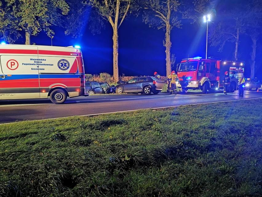 Do groźnego wypadku doszło w nocy na drodze krajowej nr 11 koło Bonina.