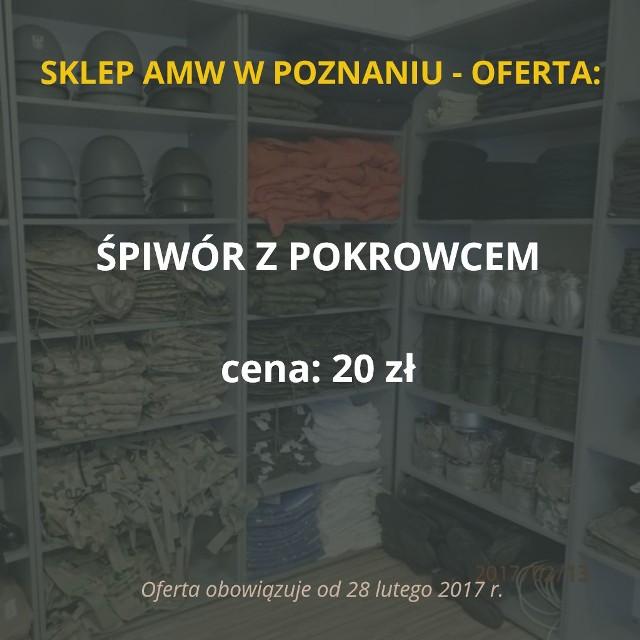 Sklep Agencji Mienia Wojskowego w Poznaniu zostanie otwarty 28 lutego. Placówka przy ul. Dojazd 30 będzie czynna we wtorki i czwartki od godz. 9 do 13. W ofercie sklepu znalazło się ponad 100 rzeczy. Oto najciekawsze z nich!Przejdź do kolejnego slajdu --->