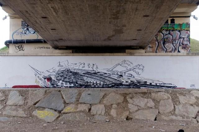 Mural w Starym Sączu