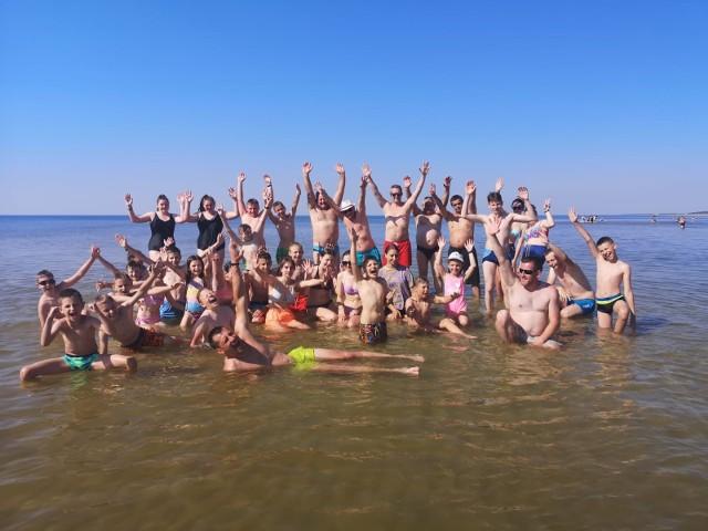 Młodzież z OSP Chełmno na letnim obozie