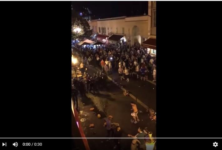 Zamieszki w centrum Nicei przed meczem Polska – Irlandia Płn. [VIDEO]