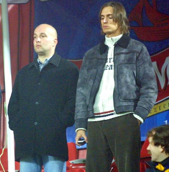 Pavel Malura (z lewej) i tajemniczy austriacki menedżer. Co z tego wyniknie dla Pogoni?