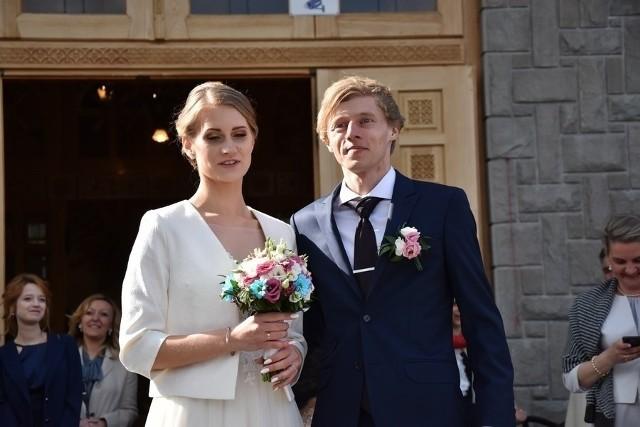 Marta i Dawid Kubacki w dniu ślubu