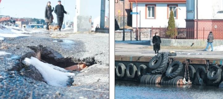 Wschodnia strona portu jest zniszczona i wymaga szybkiego remontu.