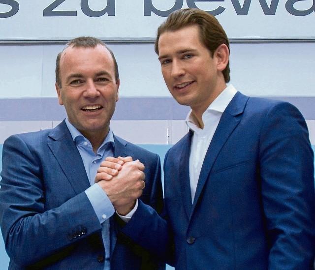 Manfred Weber w ostatnich dniach występuje z kanclerzem Austrii Sebastianem Kurzem
