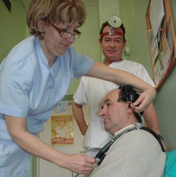 Jednym z pierwszych pacjentów przebadanych nowoczesnym sprzętem był Zbigniew Mierzwiak z Sękowic.