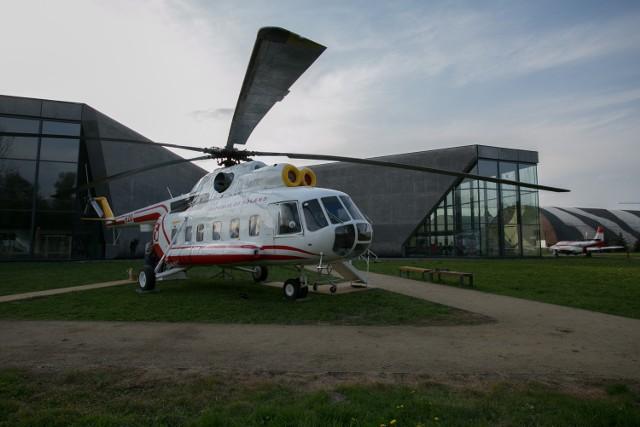 Papieski śmigłowiec w krakowskim Muzeum Lotnictwa.