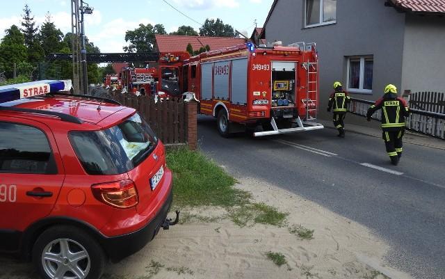Pożar domu w Łazie w gminie Zabór