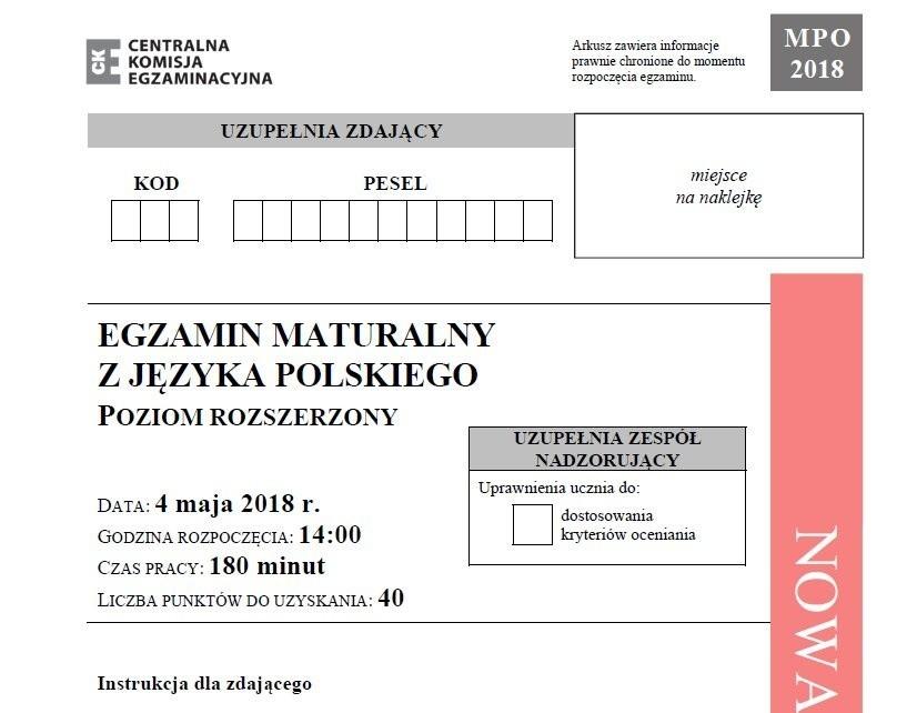 Matura 2018 język polski poziom rozszerzony. Matura z języka...