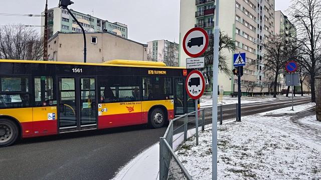 Kierowcy MPK Łódź zmuszeni są łamać przepisy ruchu drogowego z powodu wytyczonej trasy linii 87A i 87B