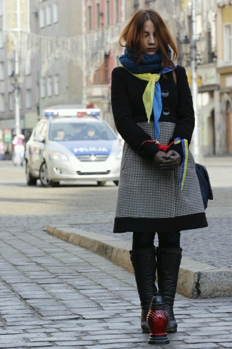 Wrocław zamanifestował poparcie dla Ukrainy