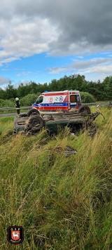 Groźny wypadek w miejscowości Porost. Jedna osoba ranna [ZDJĘCIA]