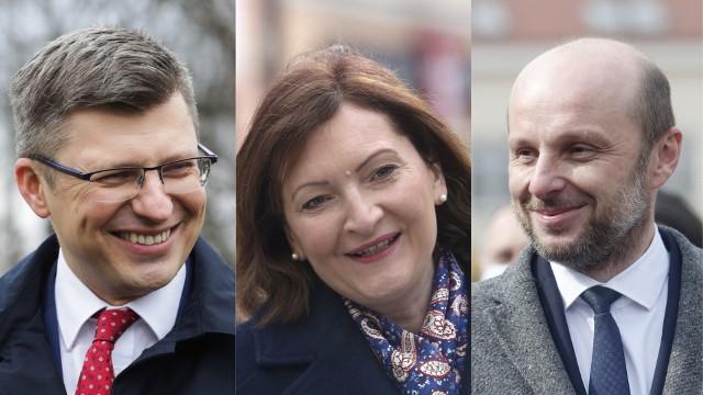 W wyścigu o fotel prezydenta Rzeszowa na prowadzenie zdecydowanie wysuwa się trójka kandydatów. To popierany przez Tadeusza Ferenca Marin Warchoł, wojewoda Ewa Leniart i wspólny kandydat opozycji, Konrad Fijołek.