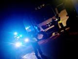Stawiski. Wypadek zablokował DK 61. Ciężarówka zderzyła się z samochodem osobowym