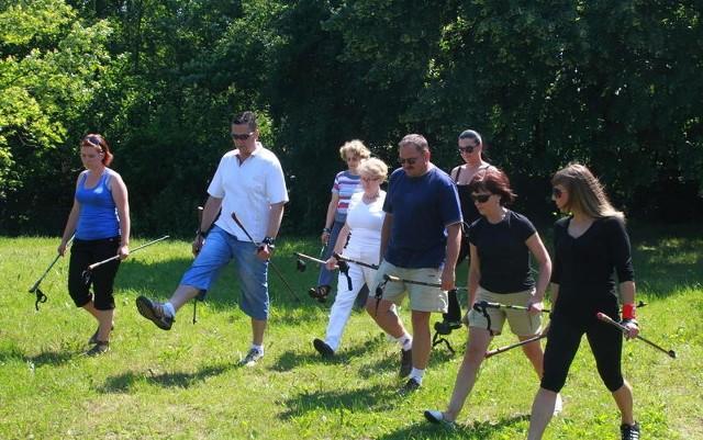 Ostatnie wspólne ćwiczenia całej grupy odbyły się w plenerze.