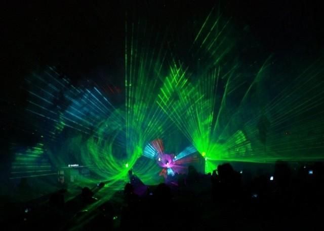 Pokaz laserów w Kluczborku