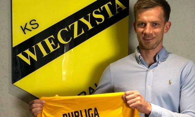 Łukasz Burliga już jako zawodnik Wieczystej Kraków