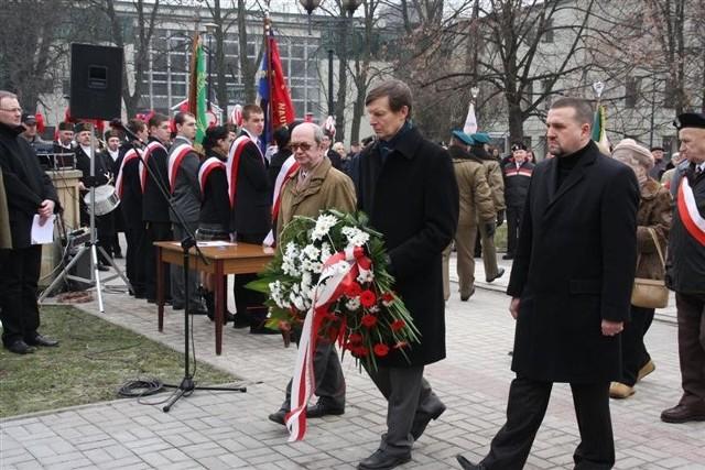 Dzien Zolnierzy Antykomunistycznego Podziemia na placu Wolności w Opolu.