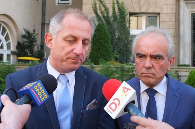 Sławomir Neumann, wiceminister zdrowia, oraz Tadeusz Jarmuziewicz, kandydat PO na prezydenta Opola.