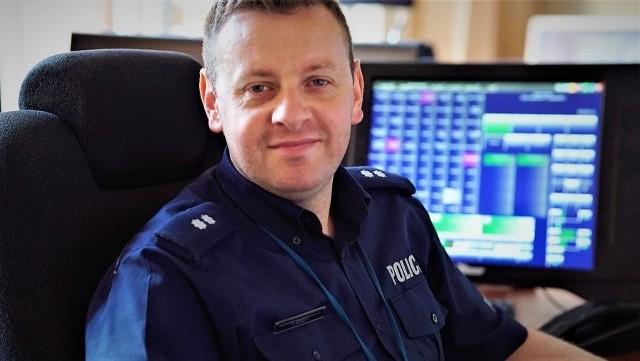 Podkom. Tomasz Kreft z gdańskiej KWP pomógł koordynować międzynarodową akcję ratunkową.