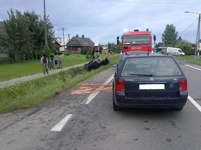 Wypadek w BliznemDo zdarzenia doszło w poniedziałek, kilka minut przed godz. 19 w miejscowości Blizne.