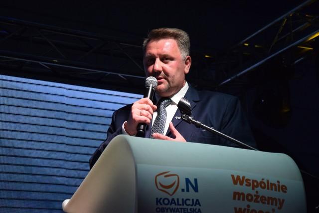 Jarosław Klimaszewski, kandydat  Koalicji Obywatelskiej na prezydenta Bielska-Białej, otrzymał najwięcej głosów w I turze