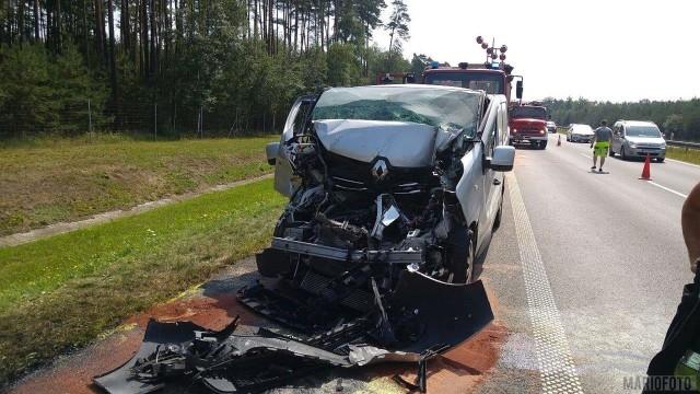 Do wypadku doszło tuż po godz. 10.00 na 232 km opolskiego odcinka autostrady A4