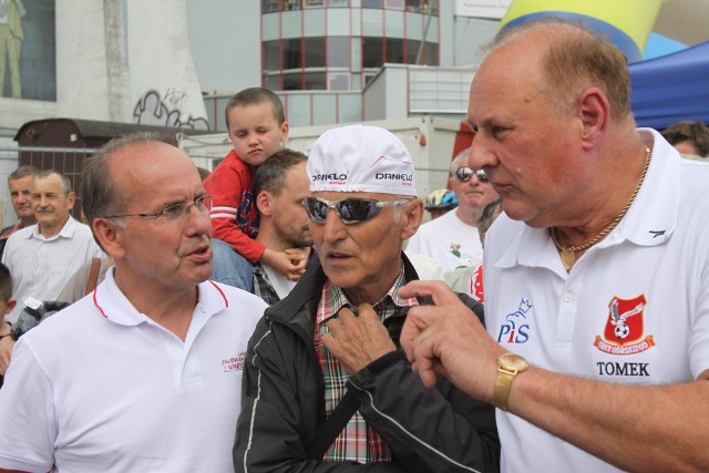 Gwiazdy na Wyścigu Solidarności i Olimpijczyków: Mieczysław Nowicki, Jan Kudra, Jan Tomaszewski