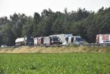 Wypadek na A4 koło Lubiatowa. Zderzyły się dwa pojazdy