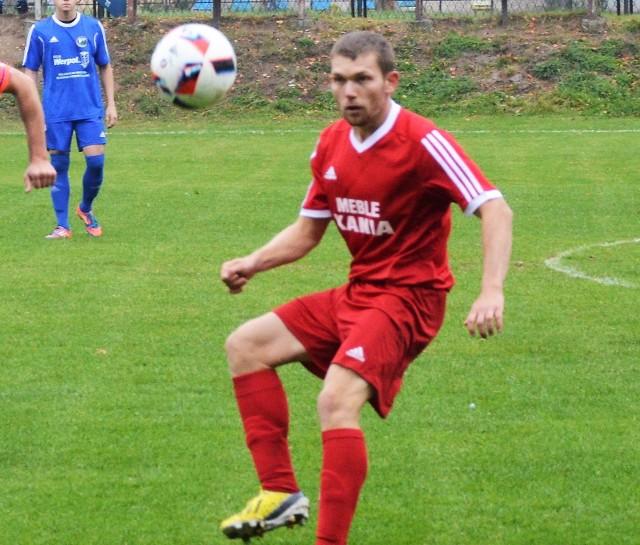 Dawid Adamczyk zdobył drugą bramkę dla Nadwiślaninu w meczu na własnym boisku przeciwko Niwie Nowa Wieś, wygranym 3:1.