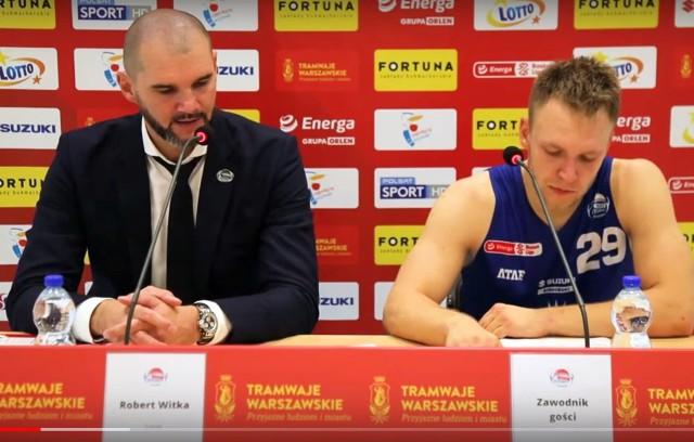 Trener Robert Witka i rozgrywający Filip Zegzuła