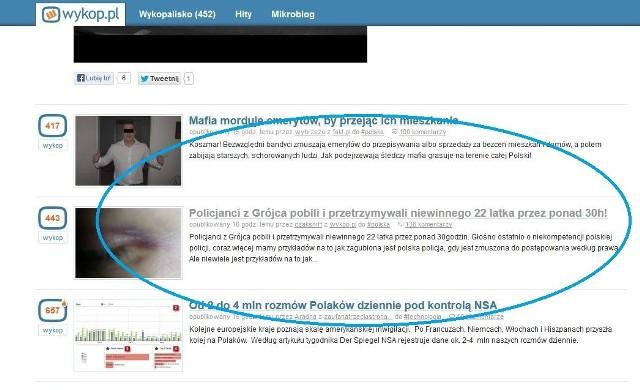 Informacja znalazła się na stronie głównej popularnego portalu, który służy do udostępniania ciekawych informacji w całej sieci.