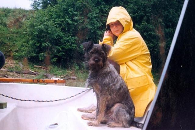 Nad Solinę sztormiak się przydał. Prawie cały czas padał deszcz...