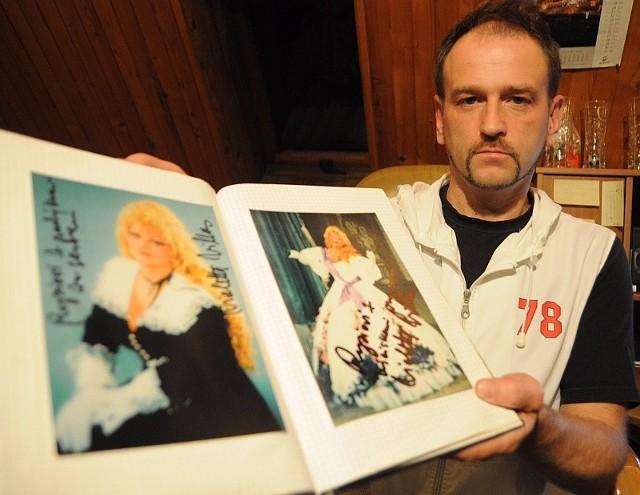 Ryszard Wittke z Tułowic, wieloletni kierowca artystki.