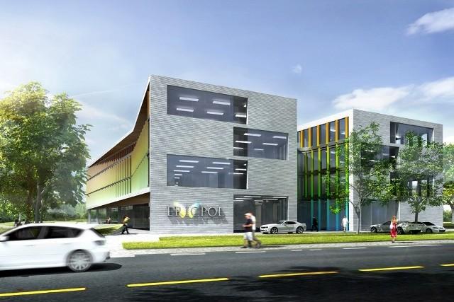 Tak ma się prezentować nowa siedziba firmy Ericpol Telecom. Zakończenie budowy w listopadzie br.