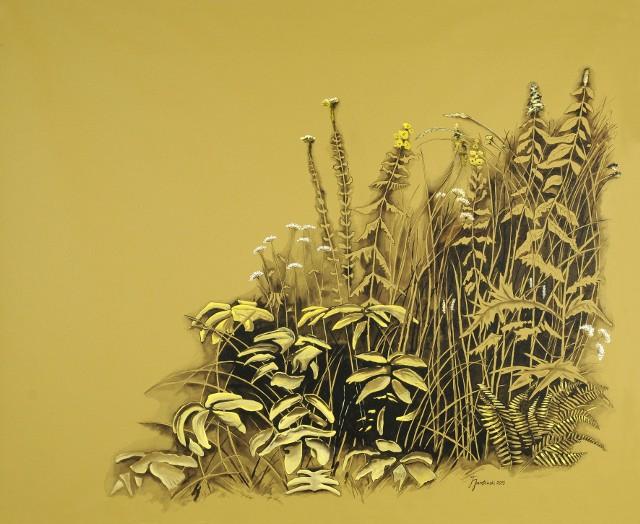 Obraz namalowany na roletach okiennychTo jeden z pierwszych malunków na roletach wykonany przez artystę z Bydgoszczy.