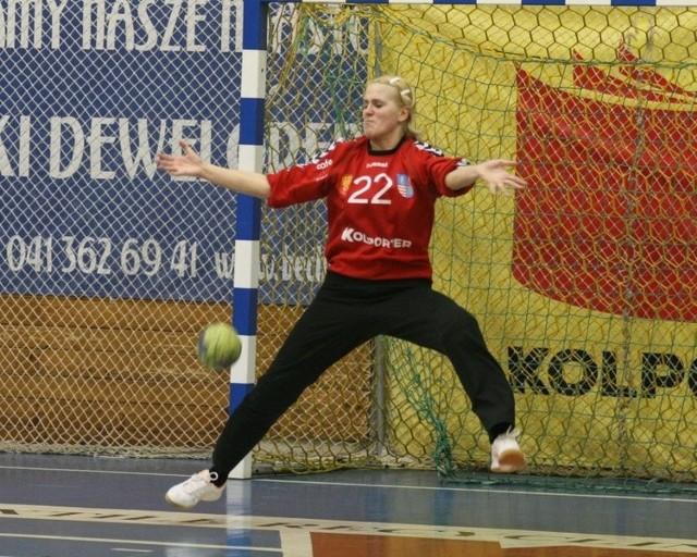 Iwona Muszioł doskonale broniła w meczu z KPR Jelenia Góra.
