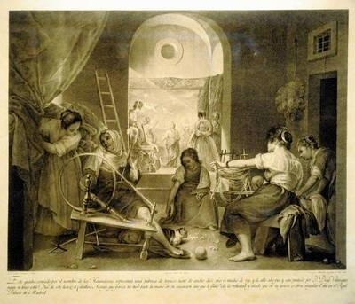 """Francisco Muntaner (1743-1805) """"Prządki"""" wg Diega Velazqueza FOT. WACŁAW KLAG"""
