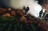 Strażacy z Balic, Gnojna i Buska-Zdroju gasili pożary balotów oraz traw