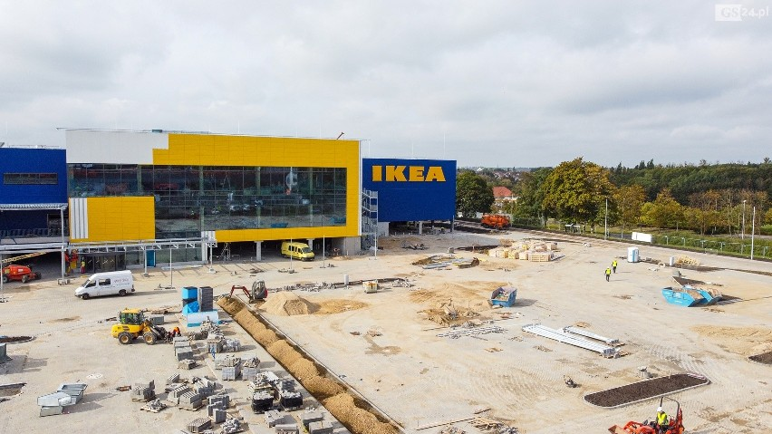 Budowa sklepu IKEA w Szczecinie.