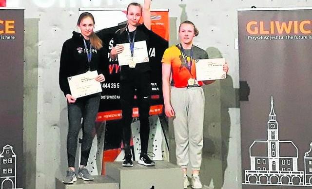 Daria Marciniak na najwyższym stopniu podium.