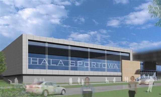 Tak będzie wyglądać nowa hala sportowa Politechniki Świętokrzyskiej w Kielcach, zlokalizowana tuż obok Nowej Galerii Echo i uczelnianego kampusu