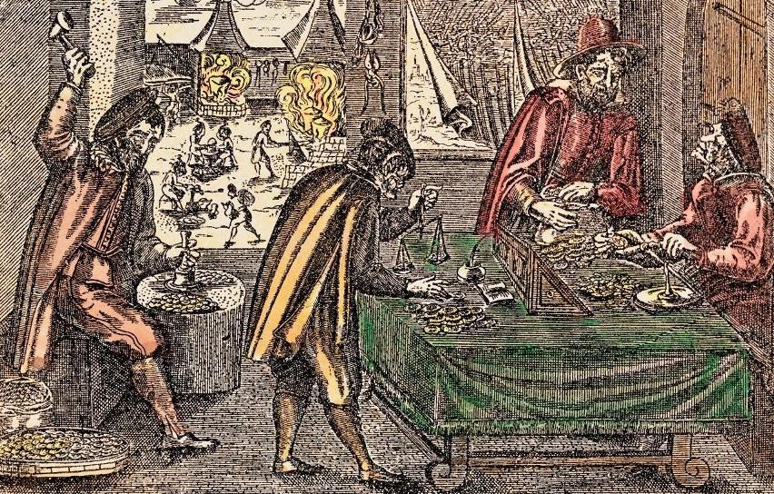 W średniowieczu do większości transakcji niezbędna była...
