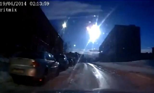 Meteoryt nad Murmańskiem