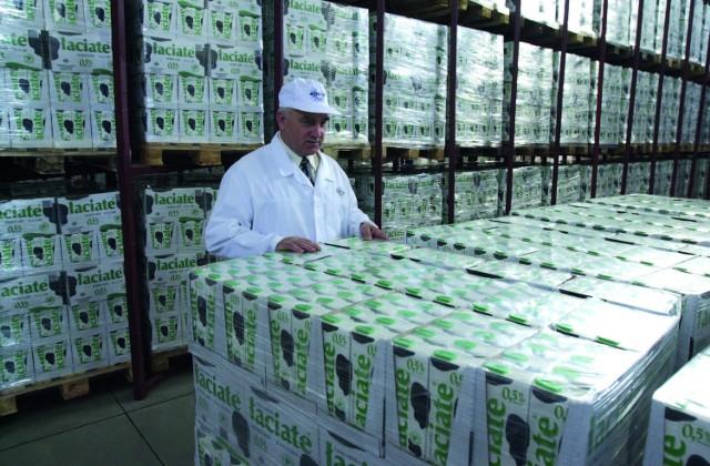 Najsilniejszą marką Mlekpolu jest Łaciate (na zdjęciu prezes spółdzielni Edmund Borawski)