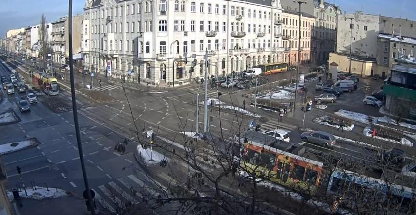 Skrzyżowanie al. Kościuszki z ul. A. Struga....