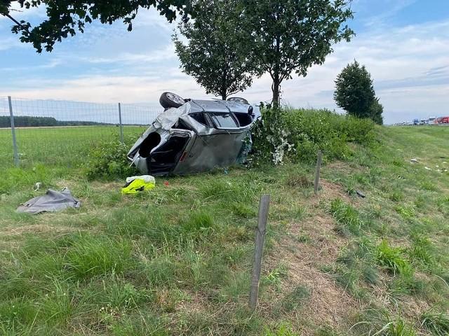 Wypadek na autostradzie A2. Dwie osoby zostały poszkodowane.