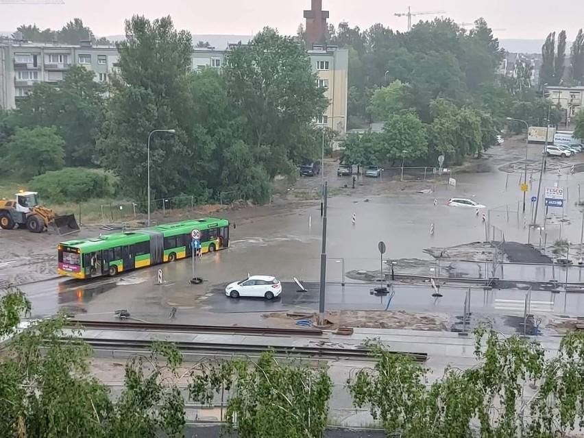 Naramowice, Łużycka/Naramowicka, teren budowy tramwaju.
